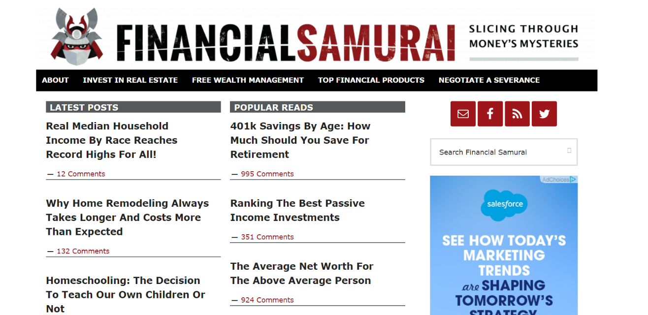 Financial samurai: Personal finance blog