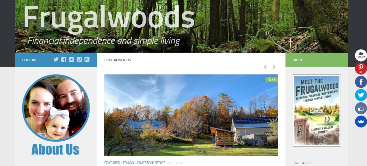 Frugal woods: Personal finance blog