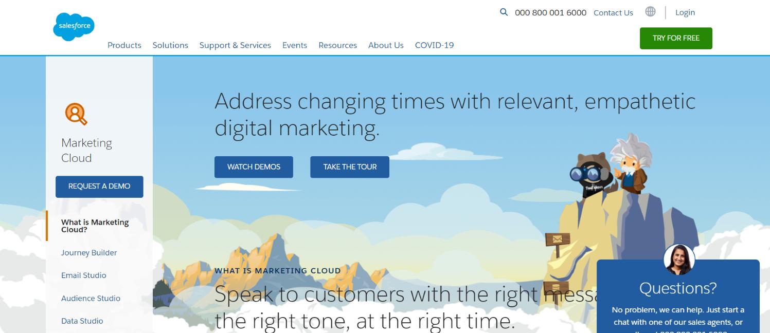Salesforce marketing cloud: Digital marketing automation tool