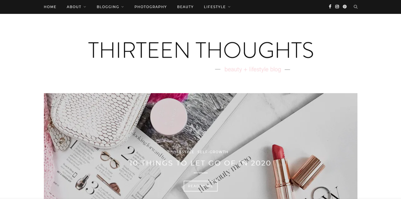 Thirteen thoughts:  Lifestyle blog