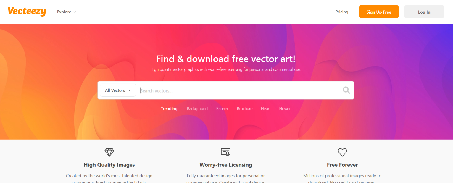 Vecteezy: Free illustrations