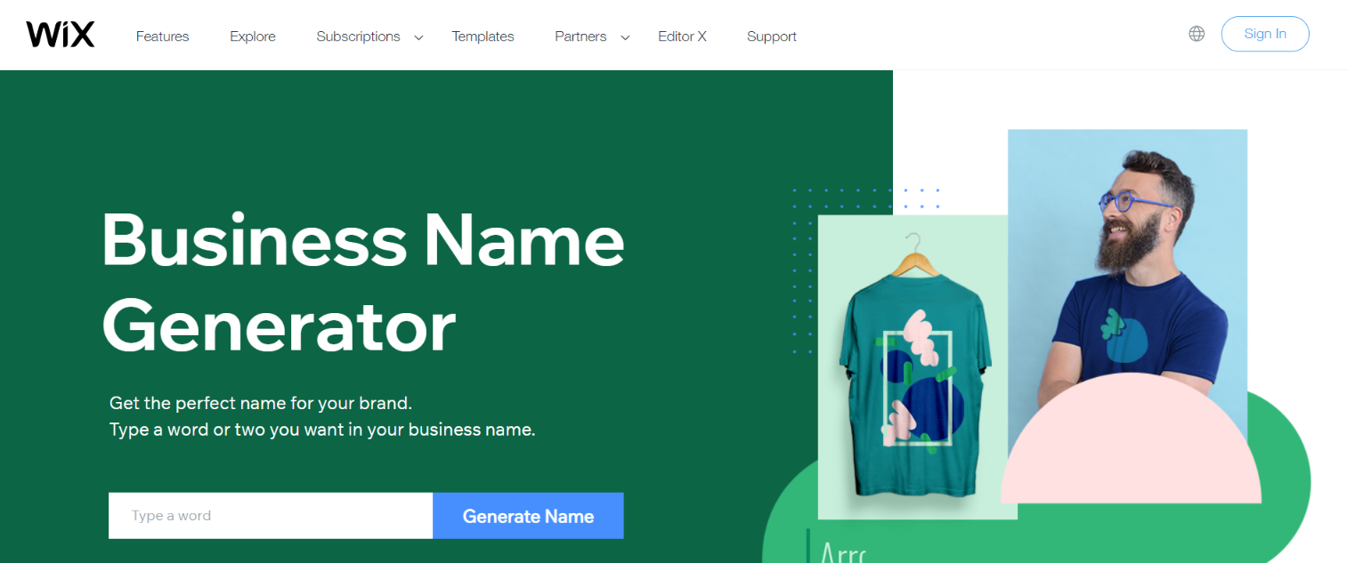 Wix business name generator: Tool for blogging