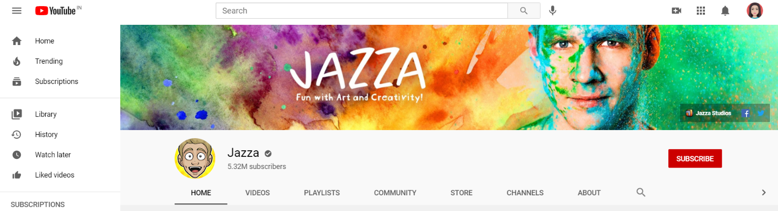 Draw with jazza: Art youtube channel