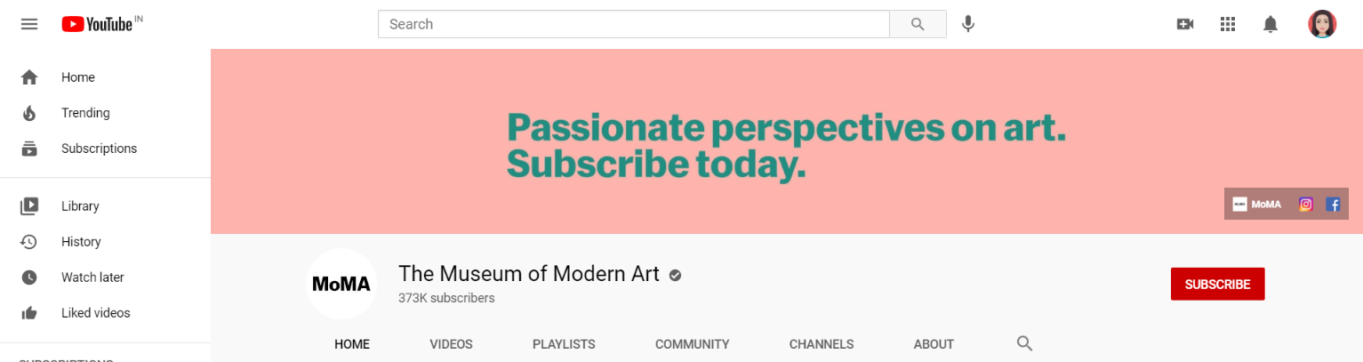 The Museum of Modern Art: Art youtube channel