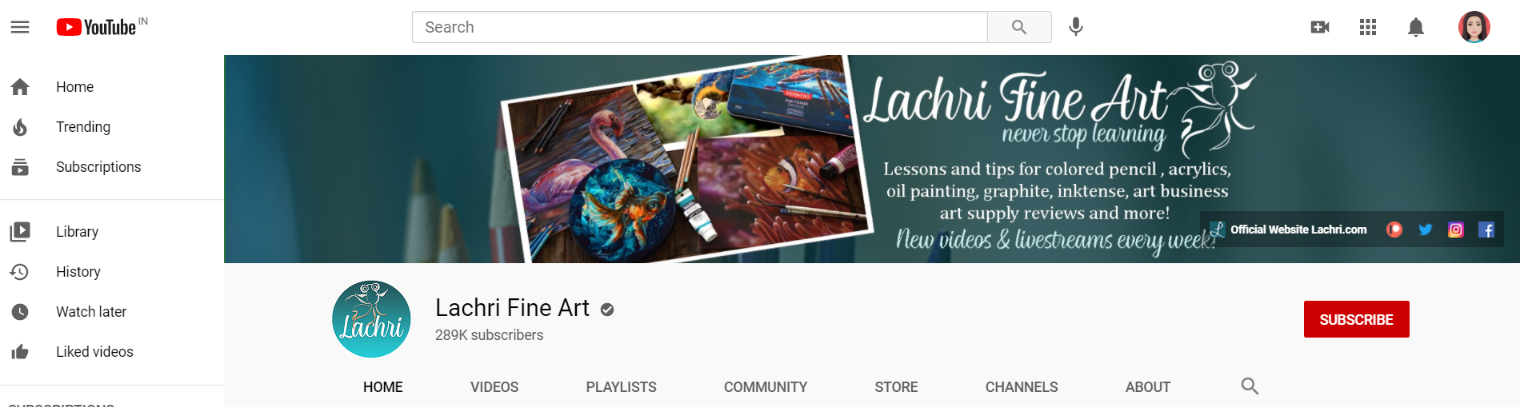 Lachri fine art: Art youtube channel