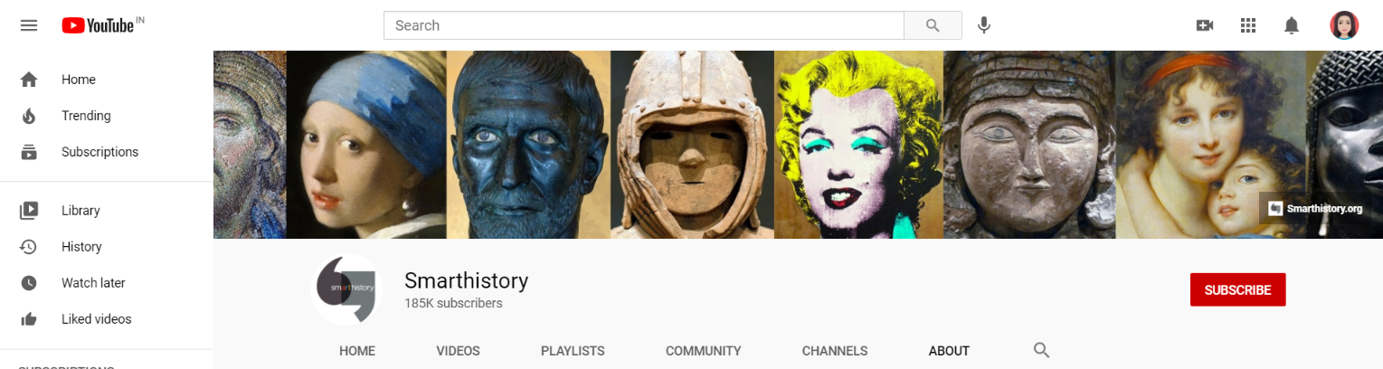 Smarthistory: Art youtube channel