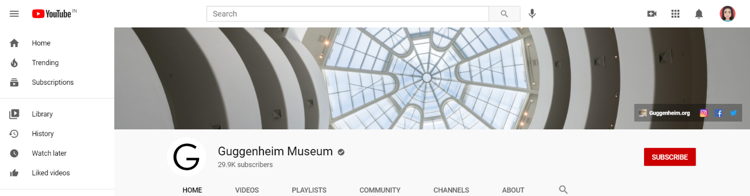 Guggenheim: Art youtube channel
