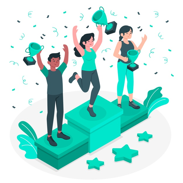 Winners of a contest regarding content promotion