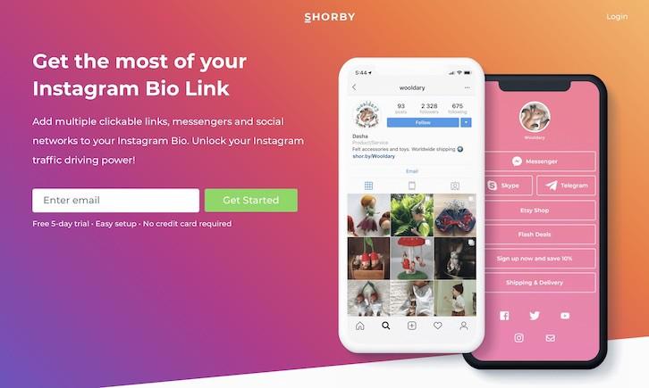 Shorby: Instagram bio link tool
