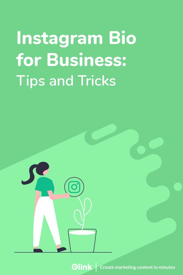 Instagram bio for business - pinterest