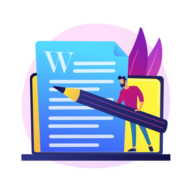 A blogger writing a blog post article on wordpress