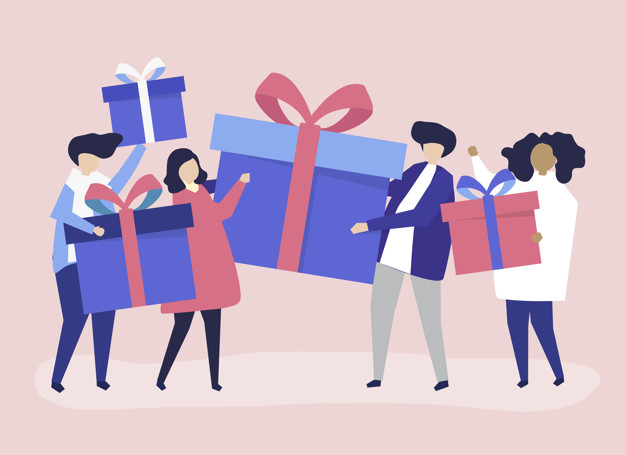 A company distributing gifts to customers