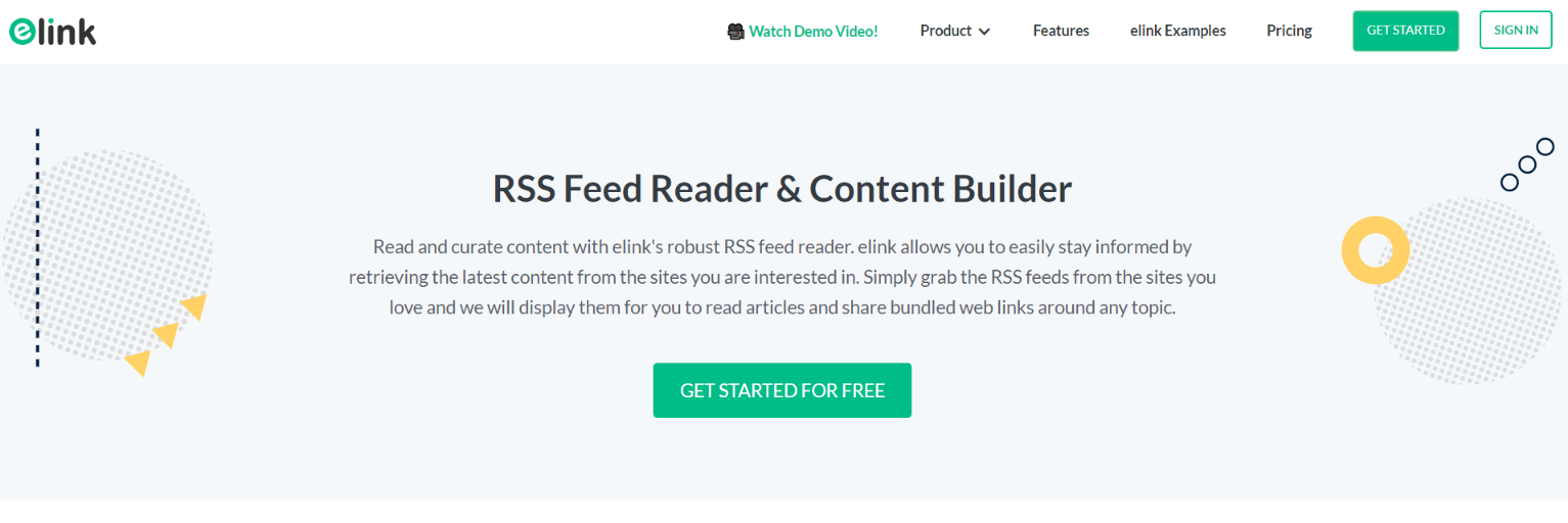 Elink.io for your rss feed
