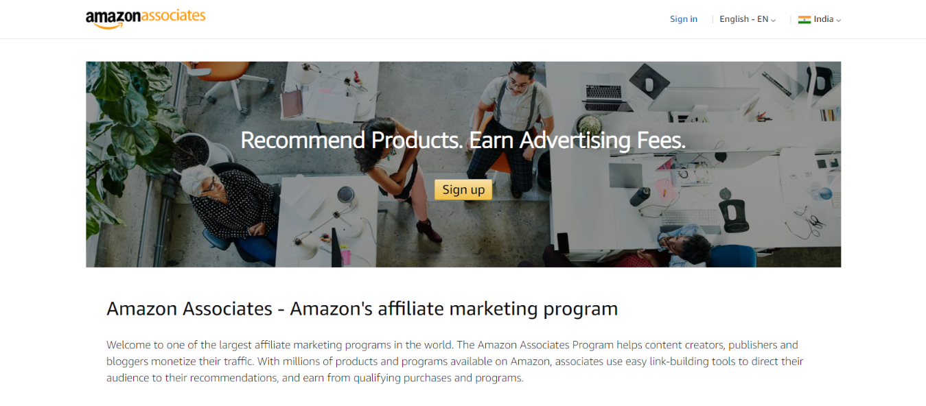 Amazon: Referral program
