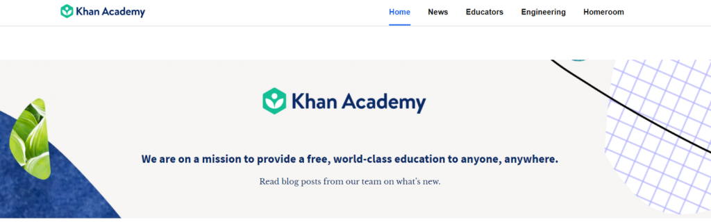 Khan academy: Educational blog
