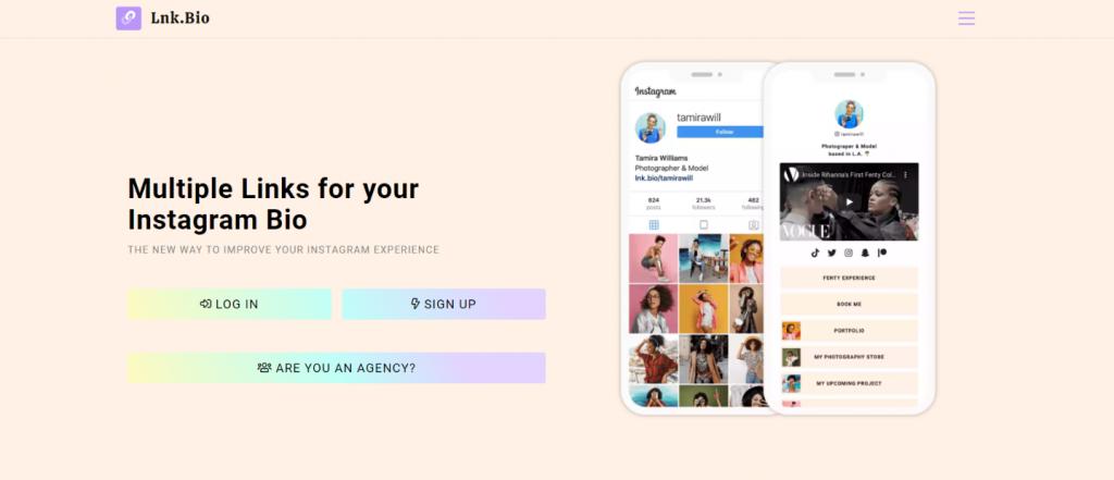 Lnk.bio: Instagram bio link tool