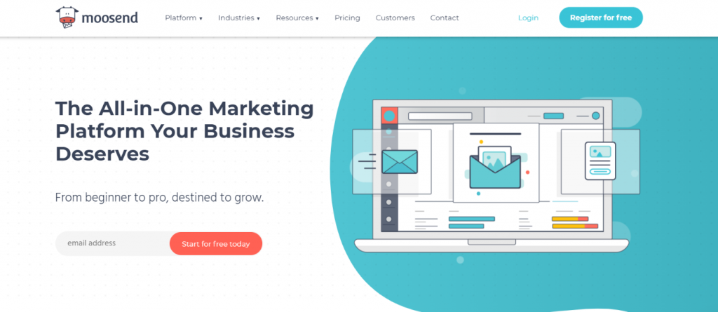 Moosend: Email marketing service