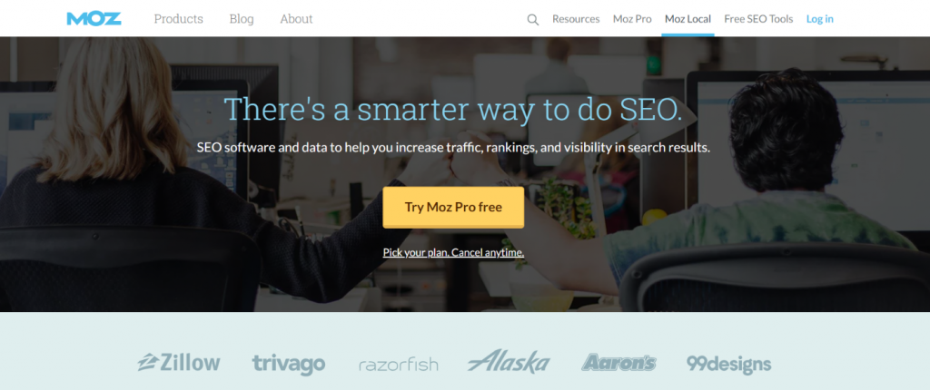 Moz: Competitor research and analysis tool