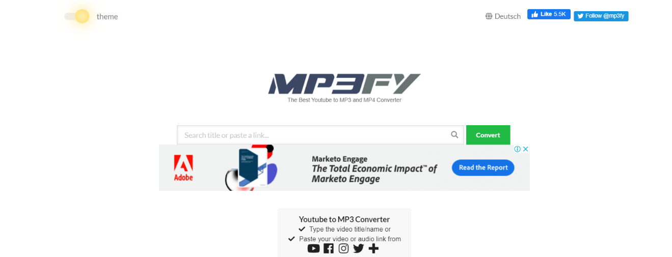 Mp3FY: Youtube to mp3 converter