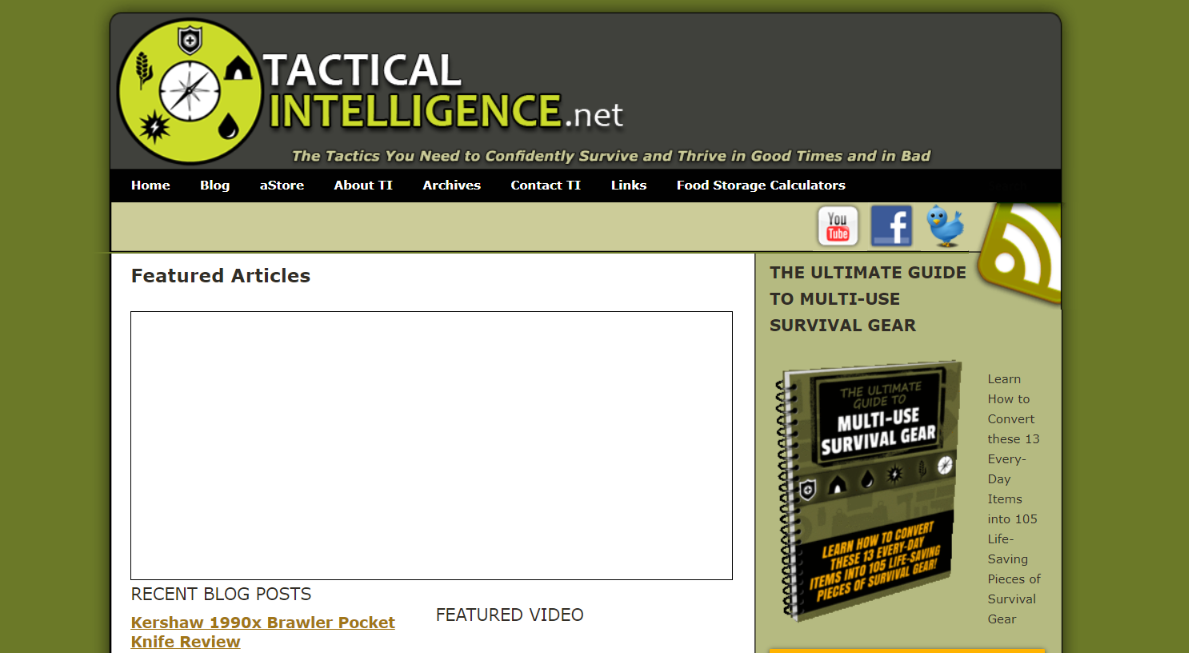 Tactical intelligence - Survival blog