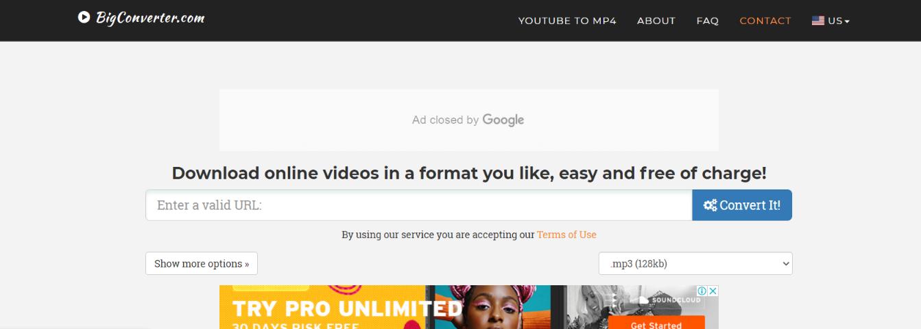Bigconverter: Youtube to mp3 converter