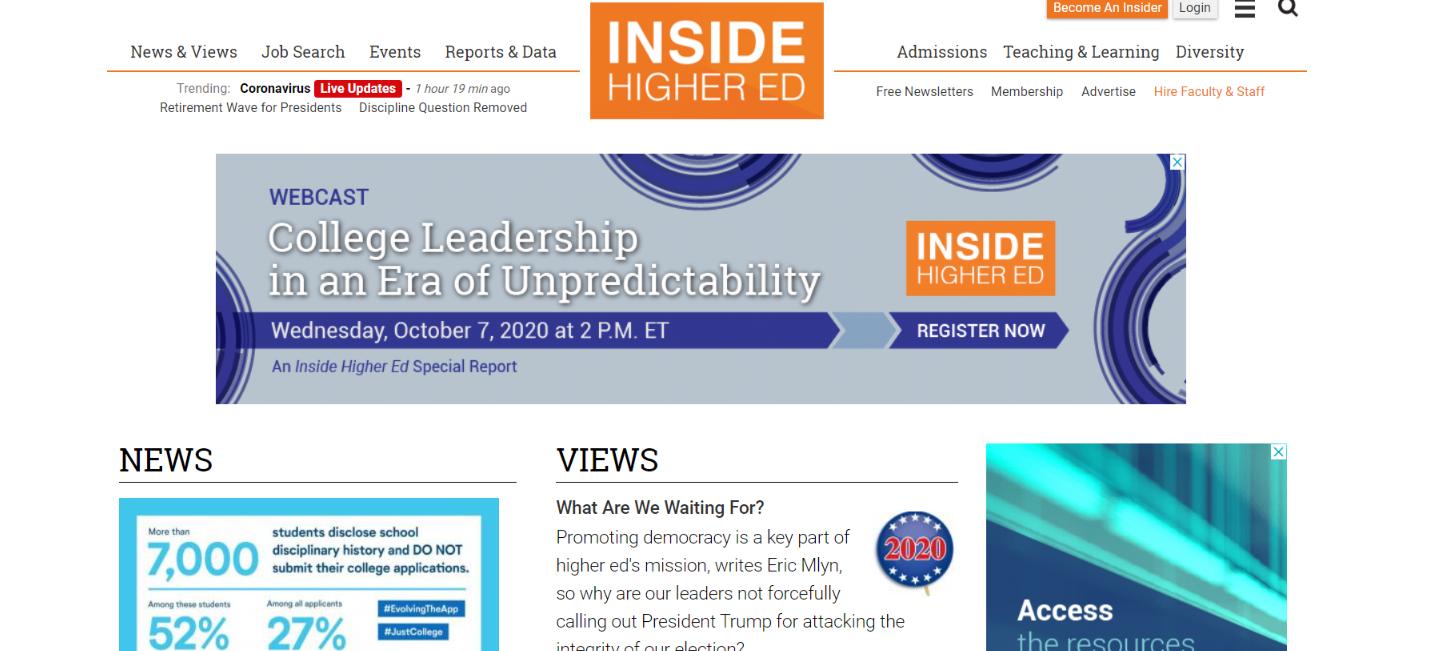 Insider higher ed: Educational blog