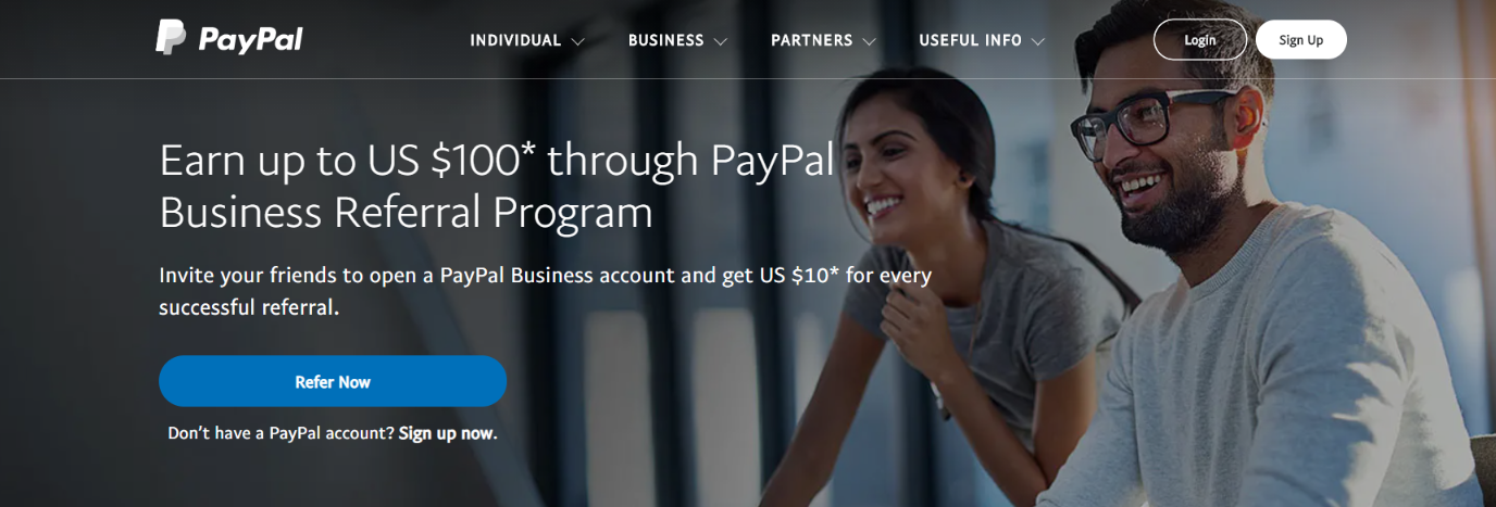 Paypal: Referral program