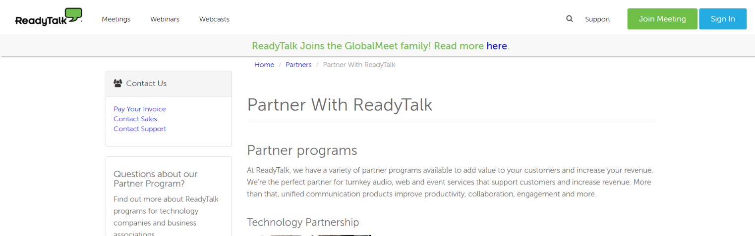 Ready Talk: Referral program