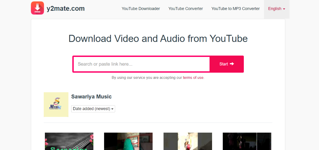 Y2mate: Youtube to mp3 converter