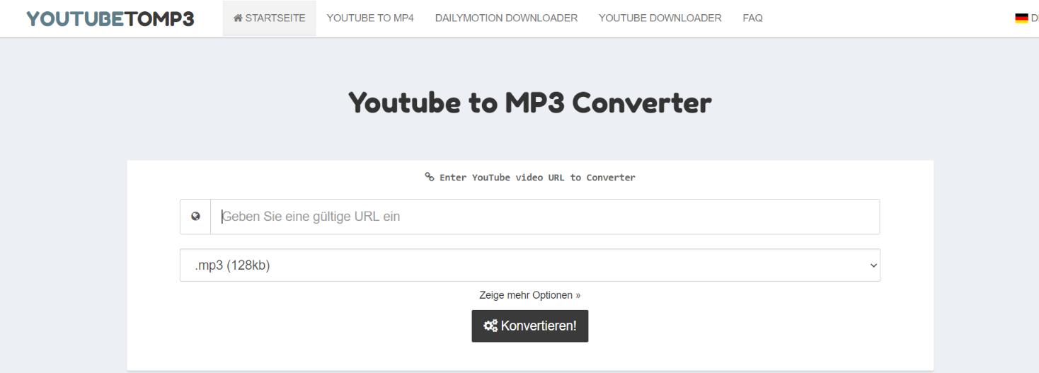 Youtubetomp3: Youtube to mp3 converter