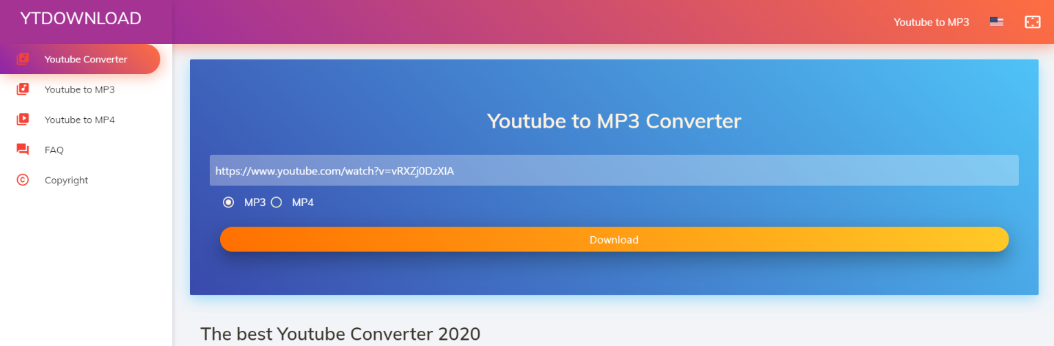 YTDownload.net: Youtube to mp3 converter