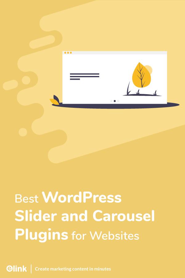 Wordpress slider and carousel plugins - pinterest