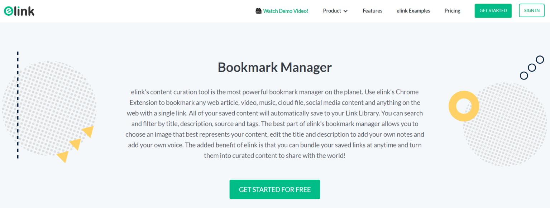 Elink.io: Visual bookmark manager