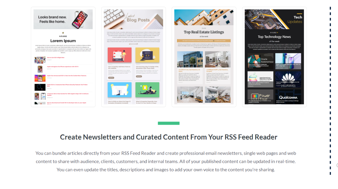 Examples of embedded rss feeds