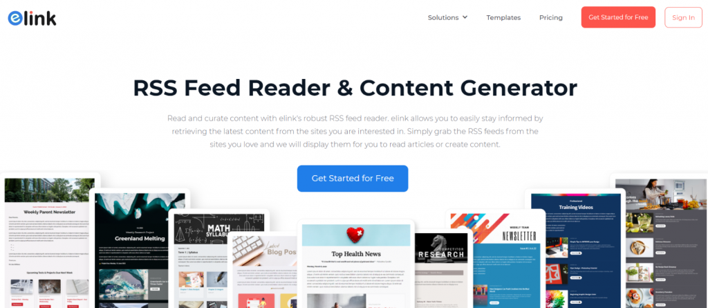 elink.io rss feed reader and creator