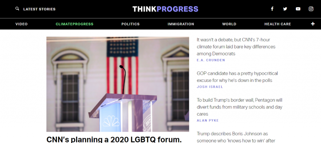 Think Progress: Political blog and website