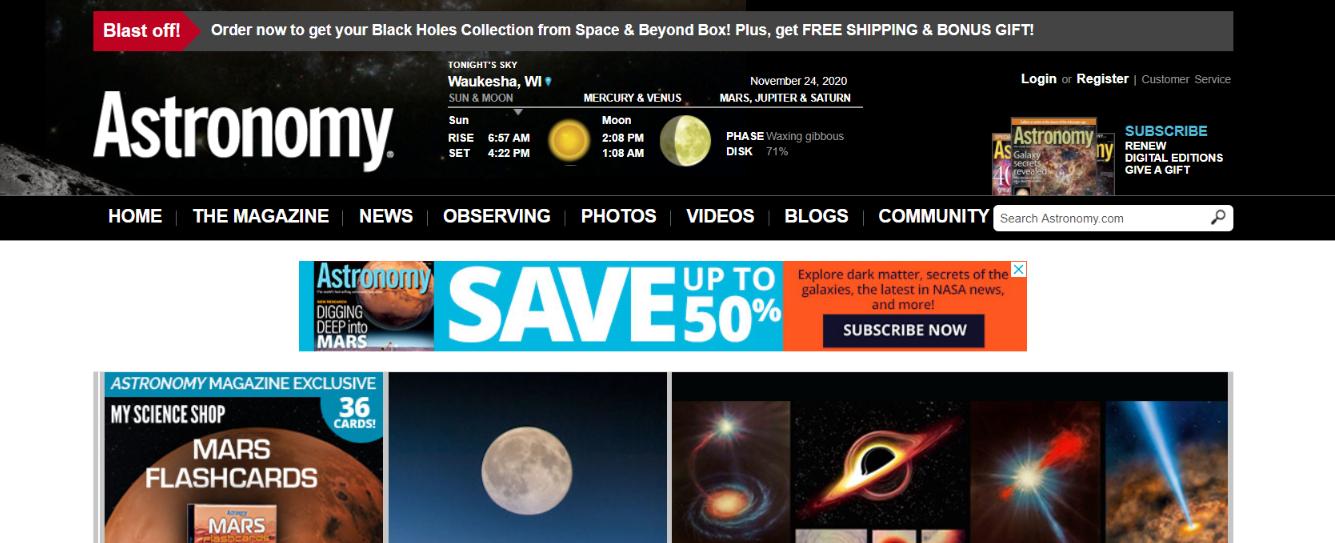 Astronomy magazine: Astronomy magazine and publication