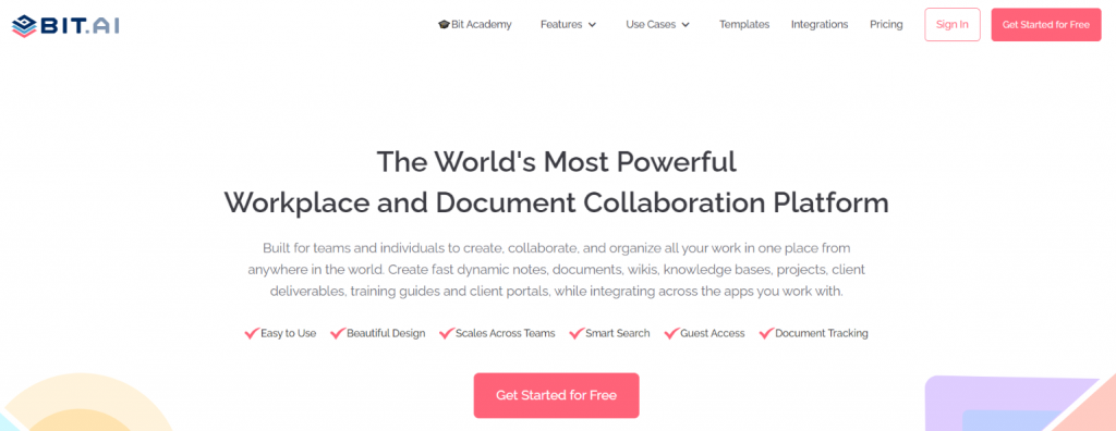 Bit.ai: Tool for freelancers