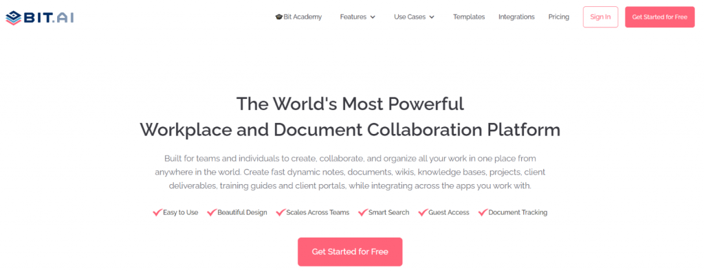 Bit.ai: Content creation tool