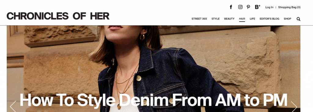Chronicles of her: Fashion blog and website