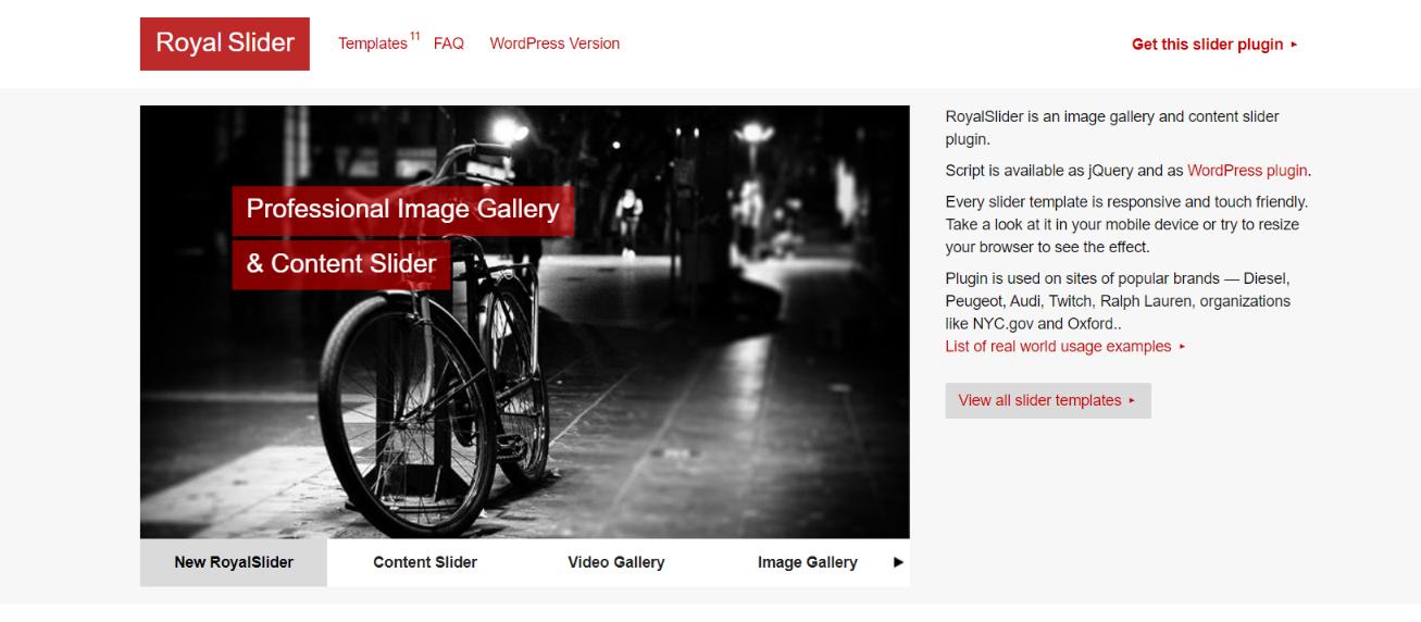 Easing slider: WordPress slider and carousel plugin
