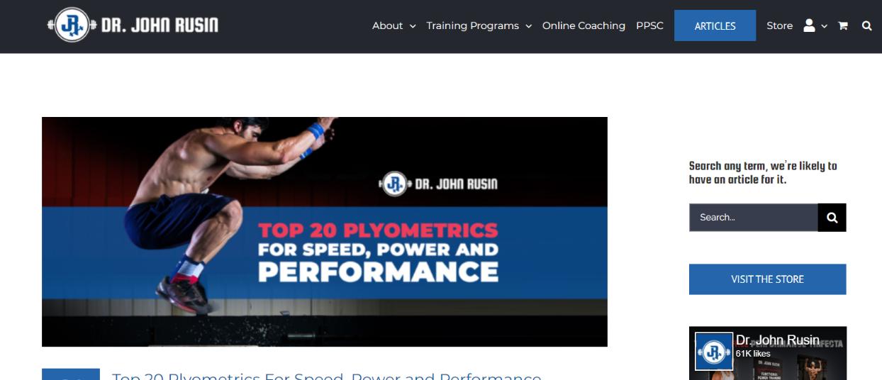Dr John rusin: Bodybuilding blog and website
