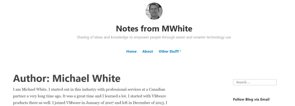 Michael white: Political blog and website