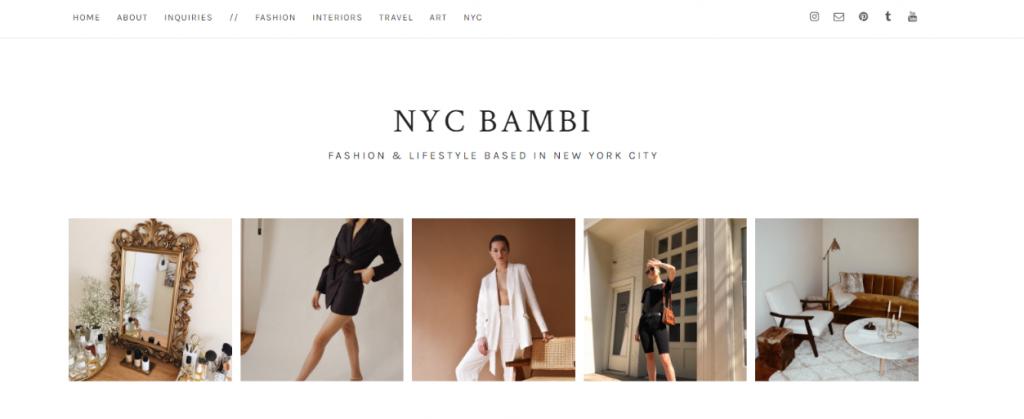 Nyc bambi: Fashion blog and website