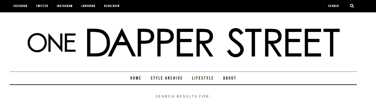 One dapper street: Fashion blog and website