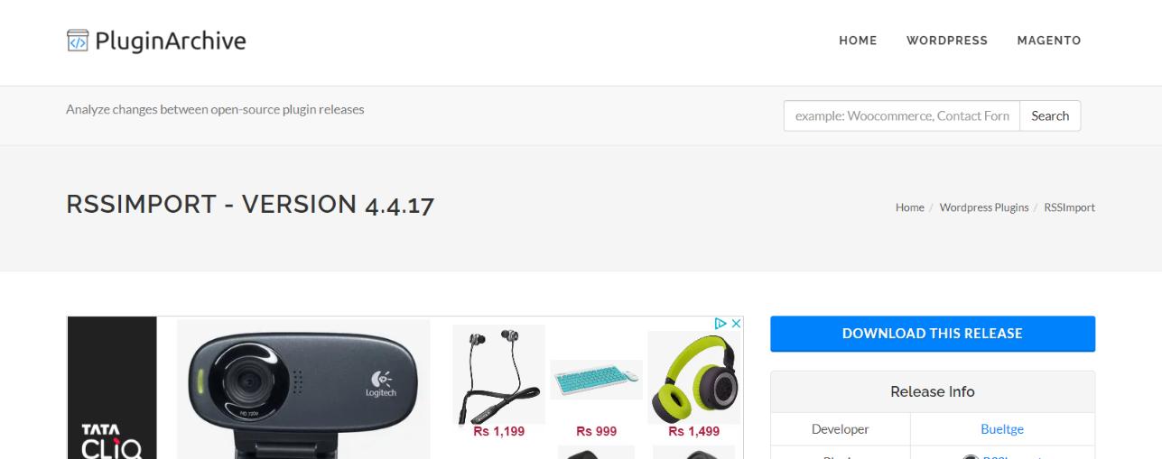 Rss Import: WordPress Rss feed plugin
