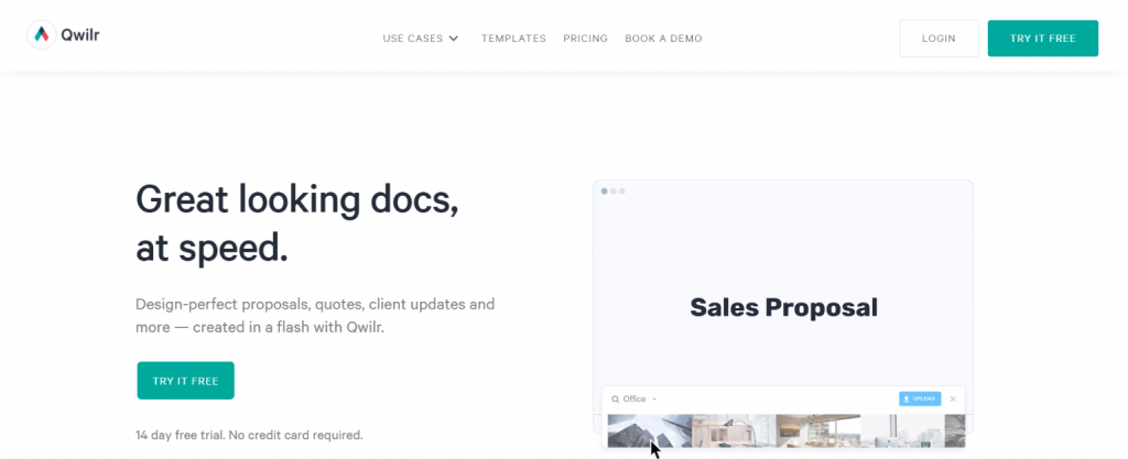 Qwilr: Tool for freelancers