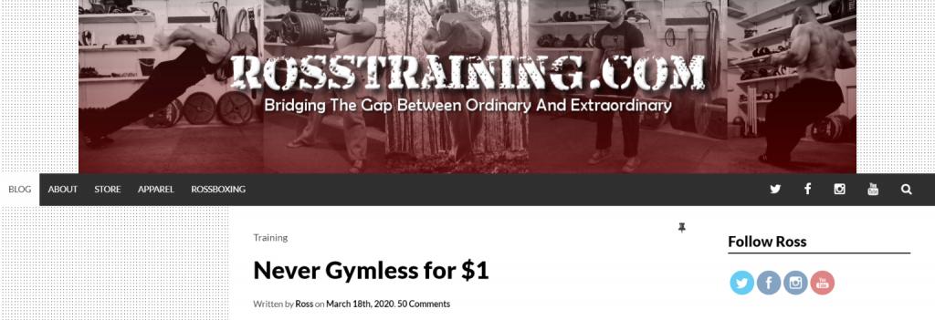 Ross training: Bodybuilding blog and website