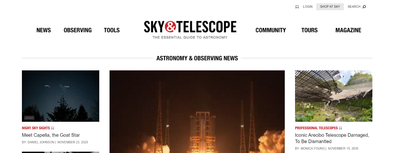 Sky and telescope magazine: Astronomy magazine and publication