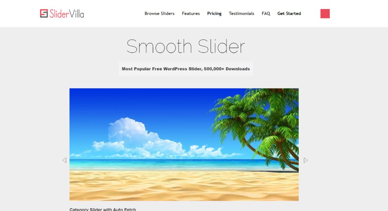 Smooth slider:  WordPress slider and carousel plugin